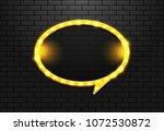 frame light retro circle... | Shutterstock .eps vector #1072530872