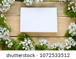 natural wooden background with... | Shutterstock . vector #1072533512