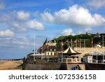 arromanches les bains in... | Shutterstock . vector #1072536158