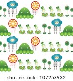 sweet garden design | Shutterstock .eps vector #107253932