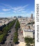 parisian view seen from arc de... | Shutterstock . vector #1072540805