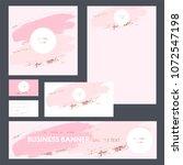 set design templates for... | Shutterstock .eps vector #1072547198