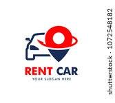 rent car logo design vector | Shutterstock .eps vector #1072548182