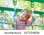 portrait of two year child at... | Shutterstock . vector #107254856