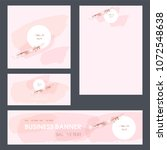 set design templates.... | Shutterstock .eps vector #1072548638