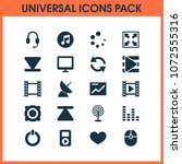 multimedia icons set with... | Shutterstock . vector #1072555316