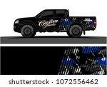 truck graphic vector for vinyl... | Shutterstock .eps vector #1072556462