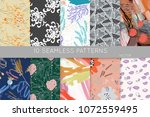 collection of seamless patterns.... | Shutterstock .eps vector #1072559495