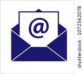 mail envelope illustration  ... | Shutterstock .eps vector #1072562078
