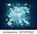 blockchain vector illustration... | Shutterstock .eps vector #1072570565