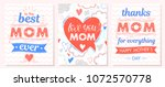 set of creative mothers day... | Shutterstock .eps vector #1072570778