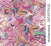tracery seamless pattern.... | Shutterstock .eps vector #1072575122