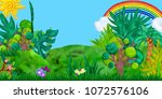 3d rendered game forest... | Shutterstock . vector #1072576106