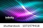 abstract wave on dark... | Shutterstock .eps vector #1072579418