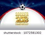 vector of soccer championship...   Shutterstock .eps vector #1072581302