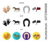 race  track  horse  animal ... | Shutterstock .eps vector #1072584068