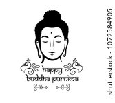 buddha purnima wishes vector... | Shutterstock .eps vector #1072584905