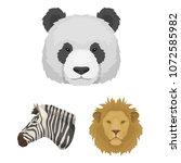 wild animal cartoon icons in...   Shutterstock .eps vector #1072585982