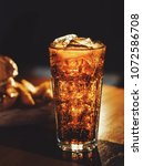 soft drink soda on the table in ... | Shutterstock . vector #1072586708