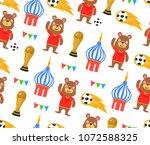 seamless football world cup... | Shutterstock .eps vector #1072588325
