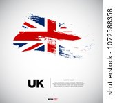 flag of united kingdom with... | Shutterstock .eps vector #1072588358