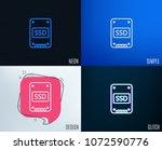 glitch  neon effect. ssd icon.... | Shutterstock .eps vector #1072590776