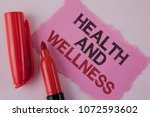 handwriting text health and... | Shutterstock . vector #1072593602