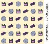 vector seamless pattern... | Shutterstock .eps vector #1072596086