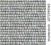 squared street cobblestone... | Shutterstock .eps vector #1072599365