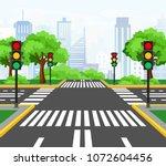 vector illustration of streets... | Shutterstock .eps vector #1072604456