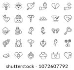 thin line icon set   rabbit... | Shutterstock .eps vector #1072607792