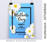 mother's day greeting card... | Shutterstock .eps vector #1072608266