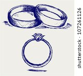 Sketch Pencil. Wedding Rings