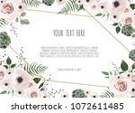 wedding invitation card with...   Shutterstock .eps vector #1072611485