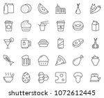 thin line icon set   coffee...   Shutterstock .eps vector #1072612445