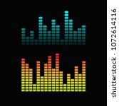 set of colorful vector digital... | Shutterstock .eps vector #1072614116