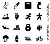 solid vector icon set  ... | Shutterstock .eps vector #1072619282