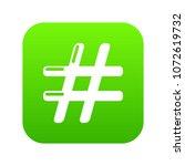 hashtag icon green vector...   Shutterstock .eps vector #1072619732