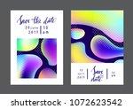fluid colors universal cards... | Shutterstock .eps vector #1072623542