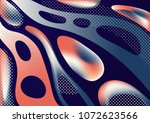 abstract background with liquid ... | Shutterstock .eps vector #1072623566