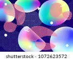 abstract background with liquid ... | Shutterstock .eps vector #1072623572