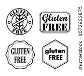 gluten free seals  badges ... | Shutterstock .eps vector #1072623875