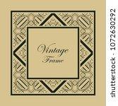 vintage ornamental decorative... | Shutterstock .eps vector #1072630292