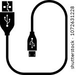 micro usb cable  usb cable... | Shutterstock .eps vector #1072631228