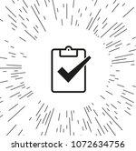 vector icon check mark | Shutterstock .eps vector #1072634756