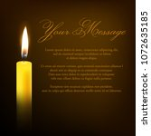 vector funeral card with single ... | Shutterstock .eps vector #1072635185