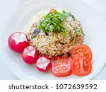delicious thai traditional food ... | Shutterstock . vector #1072639592