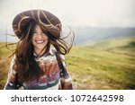 Happy Traveler Hipster Girl...