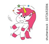 unicorn expression is dizzy | Shutterstock .eps vector #1072652006