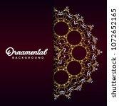 arabic ornament background... | Shutterstock .eps vector #1072652165